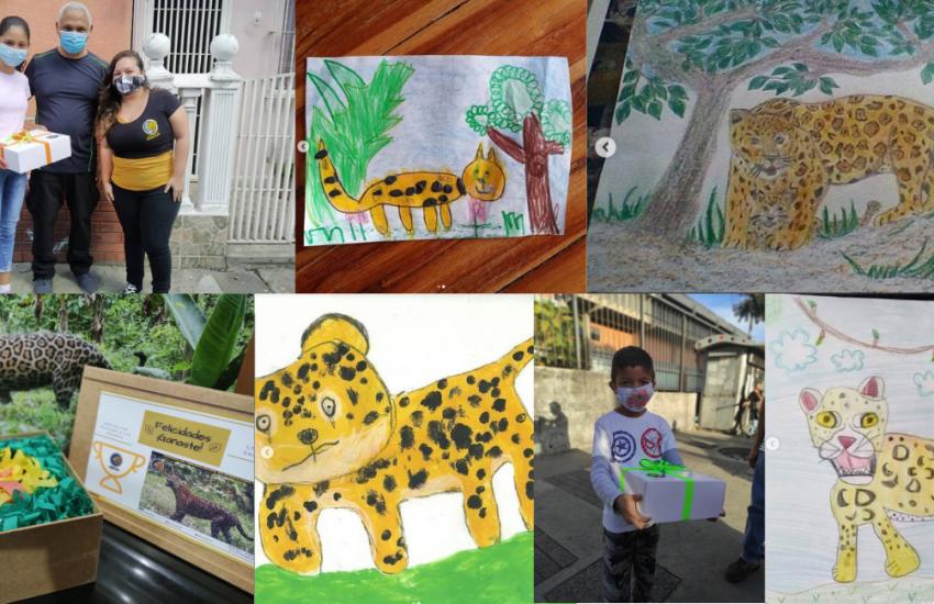Jaguar Day Venezuela Illustrations of the children