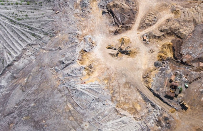 Bird's eye view of mining area. Photo by